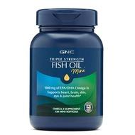ジ웃現貨 美國GNC健安喜三倍濃縮深海魚油迷你mini小顆粒魚油120粒。