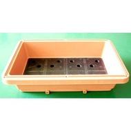63L水耕槽排水孔設計、魚菜共生槽、強化塑膠桶、耐酸鹼桶、水桶、水槽、養殖槽、運輸桶【水耕魚】