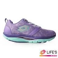 LOTTO樂得-義大利第一品牌 女款EASYWALK 緹花健步鞋 [0677] 紫【巷子屋】