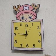 航海賊王喬巴卡通掛鐘表臥室客廳可愛靜音創意時尚時鐘石英鐘掛表