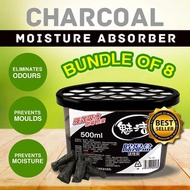 [CHARCOAL MOISTURE ABSORBER] Bundle of 8 / Dehumidifier / Better than Thirsty Hippo