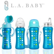 【L.A. Baby】316不鏽鋼保溫奶瓶學習套組270ml 11件組(極光藍)