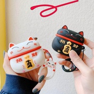 For AirPods 3 Case Cute Japan Lucky Cat Earphone Cases For Apple Airpods pro Earpods Cover Soft Silicone Headphone Cover