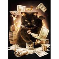 Lovely Money Cat Tree 5D Diamond DIY Painting Craft Home Decor