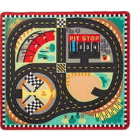 M&D - Round The Speedway Race Track Rug With 3 Vehicles