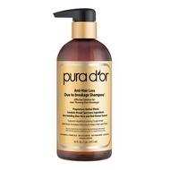 Pura d'or Premium Organic Anti Hair Loss Shampoo Gold Label แชมพูป้องกันผมร่วง สุตรเข้มข้น
