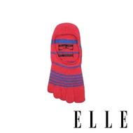 【ELLE】深履足弓止滑五趾女襪-紅(五趾襪/五指襪)