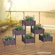 家庭蔬菜種植箱立體陽台組合種菜盆花盆多層花架創意陽台菜園多肉HM  時尚潮流