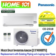 Panasonic Dual Split Series Aircon [System 2] Avaliable in CU-2S18 WITH *Replacement Services*
