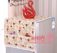 冰箱側掛架 冰箱置物架側壁掛架收納布袋多層單雙開門布藝防塵罩蓋巾多格家用