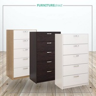 ☇Furniture Direct chest drawer 5 layer ikea storage cabinet/ almari baju bedroom  hest furnitur