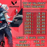 TOP UP VALORANT POINTS 300 - 1950 CHEAPEST TOPUP VALORANT POINT (1)