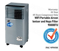 Harson's WIFI Enabled Portable Aircon With Ioniser and Hepa Filter 9000BTU PAC-9PW88 *NO INSTALLATION* + FREE $50 VOUCHER (SUBJECT TO STOCK AVAILABLITY))