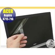 【Ezstick】ACER ASpire 7 A715-71G 靜電式筆電LCD液晶螢幕貼 (可選鏡面或霧面)