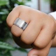 แหวนหทัยสูตร แหวนสแตนเลส หมุนได้ แหวนหัวใจพระสูตร แหวนสีเงิน แหวนผู้ชาย แหวนผู้หญิง แหวนคู่