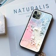 手機殼雪糕油畫藍色亮面iPhone 12 Pro Max 三星紅米小米華為