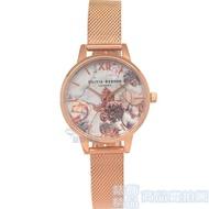 限時 滿3千賺10%點數↘  OLIVIA BURTON OB16CS06 魔法花園 玫瑰金色金屬網狀錶帶 女錶 30mm【錶飾精品】