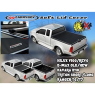 CARRYBOY Soft Lid HILUX VIGO REVO RANGER DMAX BT50 TRITON NAVARA D40 NP300 Soft Pickup Cover Canvas Tonneau Cover