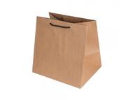 Dongsung Paper Corporation Lunch Box Extra Large Plain Kraft Shopping Bag 5p
