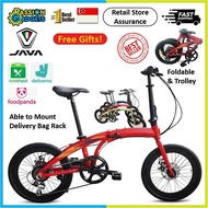 2021 Latest! JAVA Zelo v2 20inch Foldable Bicycle 7 Speed Shimano Bike Xelo Hito Hachiko Folding 20""