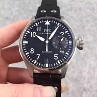 【瑤閣】IWC 萬國  大飛 真功能顯示 316精鋼錶殼 藍寶石鏡面  小牛皮皮帶 原裝折疊扣
