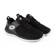 金英鞋坊~義大利第一品牌-LOTTO樂得 女款花漾雙密度跑鞋 [6820] 黑 特賣590元