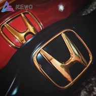 (Gold)2pcs Honda VEZEL Front& Rear Car Logo Emblem E01+J01