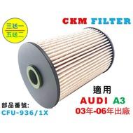 【CKM】奧迪 AUDI A3 8P TDI 03年-06年 超越 原廠 正廠 柴油濾芯 柴油濾清器 柴油蕊 濾芯
