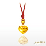 【J'code 真愛密碼】真愛-愛心墜子+紅繩項鍊(時尚金飾)