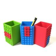 =優生活=可愛創意積木文具系列 LEGO樂高積木筆筒矽膠多彩DIY收納筆筒