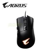 技嘉 Aorus M3 電競滑鼠(黑)/有線/6400dpi/RGB/歐姆龍按鍵/鐵氟龍鼠腳