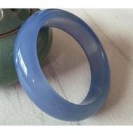 紫滕戀推出巴西原色藍玉髓手鐲 天然原礦無燒色 藍玉髓手鐲 水潤冰透藍玉髓