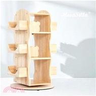 【Mesasilla】實木旋轉收納書櫃