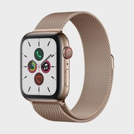 APPLE Watch Series 5 GPS+Cellular (44mm, Gold Stainless Steel Case, Gold Milanese Loop Band)