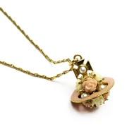 維維恩維斯特伍德Vivienne Westwood nekkuresuobupinku x黄金金屬材料x假貨珍珠x樹脂女士-g1175 BrandValue