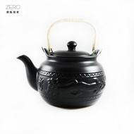 原點居家創意養生茶壺功夫茶具煮茶器燒水壺陶瓷可直火明火4000ml(大烏龍)