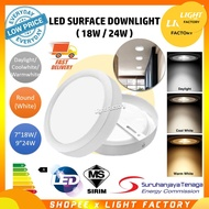 "#[downlight] led downlight {3 YEARS WARRANTY}[SIRIM APPROVED] LED Surface Downlight 7""18W / 9""24W LED Surface Mounted Pa"