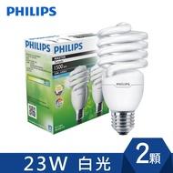 飛利浦PHILIPS Tornado 螺旋 省電燈泡 T2 23W E27 120V (2顆裝) 白/黃光