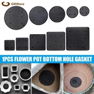 Plastic Flower Pot Bottom Hole Mesh Potted Plant Prevent Soil Loss Net Tools Black