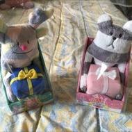 全家 宇宙人絨毛置物盒 麋鹿/條紋熊