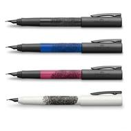 德國輝柏Faber-Castell WRITink 黑手黨時尚指紋鋼筆 鋼珠筆 原子筆 防滑筆身 四色