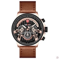 KADEMAN 689G Sport Watch Men Quartz Watch Full Leather Original Wristwatch Business Male Clocks