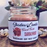 Soy Wax Candle with Sandalwood Aroma Oil