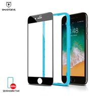 SmartDevil Full Cover Dust Proof Tempered Glass Protective Film For Apple iPhone 11 11Pro 11ProMax iPhone 6 6s 6p 6sp 7 7p 8 8p, Clear and Black