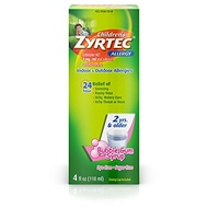 ▶$1 Shop Coupon◀  Zyrtec 24 Hr Children's Allergy Syrup with Cetirizine, Dye- & Sugar-Free, Bubble G