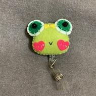 🐸可愛蛙造型識別證夾