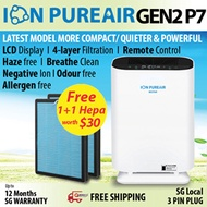 ★SPECIAL★ Ionize Air Purifier★ION PUREAIR GEN 2 P7/P5★More compact/Quieter/LCD★1+1 Free Hepa Filter