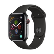 Apple-Apple Watch Series 4 GPSCellular 44mm, Space Black Stainless Steel Case, Black Sport Band