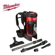 【Milwaukee 美沃奇】18V鋰電無碳刷背式吸塵器-M18 FBPV-0G0 原廠公司貨(無電池充電器)