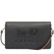 COACH  斜背包 WOC包 荔枝紋真皮 側背包 手機包 斜背包 皮夾 手拿包 C4209 黑色(現貨)